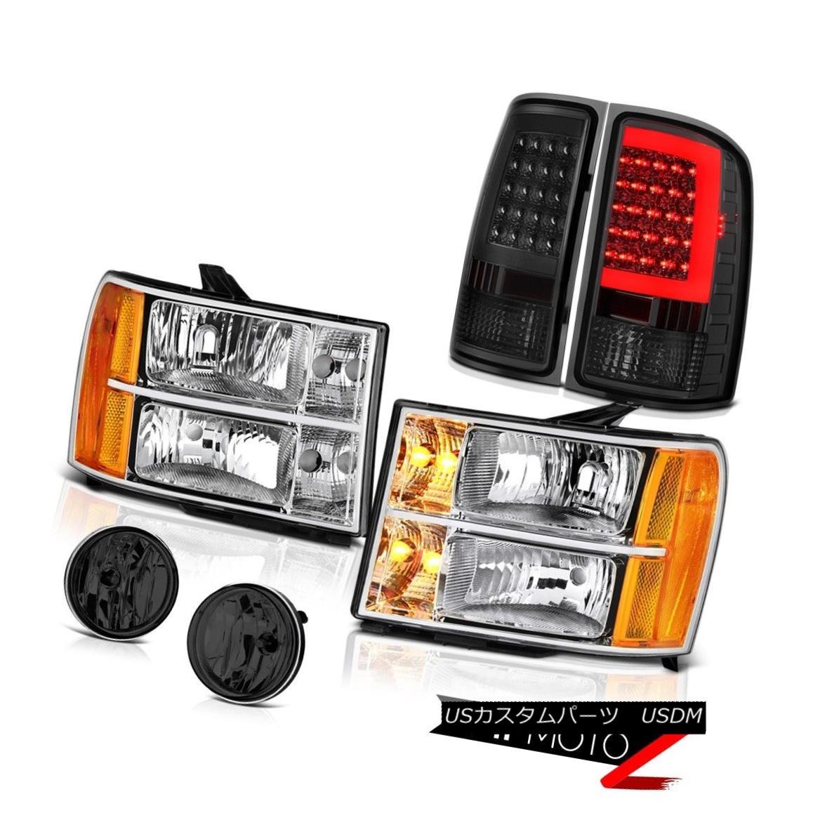 テールライト 2008-2014 Sierra 3500 WT Smokey Parking Brake Lights Chrome Headlamps Foglamps 2008-2014シエラ3500 WTスモーキーパーキングブレーキライトクロームヘッドランプフォグランプ