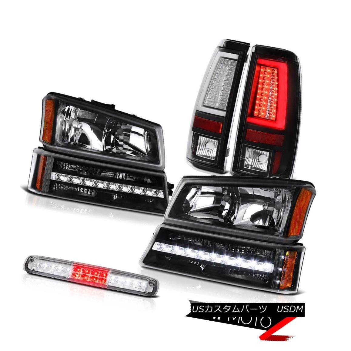 テールライト 03-06 Silverado 2500Hd Matte Black Tail Lights 3RD Brake Lamp Headlamps Bumper 03-06 Silverado 2500Hdマットブラックテールライト3RDブレーキランプヘッドランプバンパー