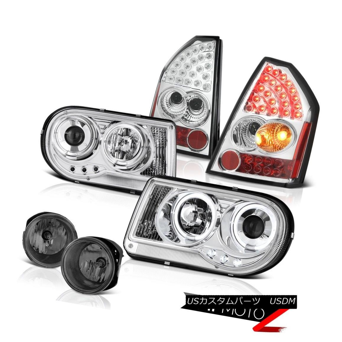テールライト Halo LED Projector Headlights Tail Lights Bumper Fog 05-07 Chrysler 300C 6.1L Halo LEDプロジェクターヘッドライトテールライトバンパーフォグ05-07 Chrysler 300C 6.1L