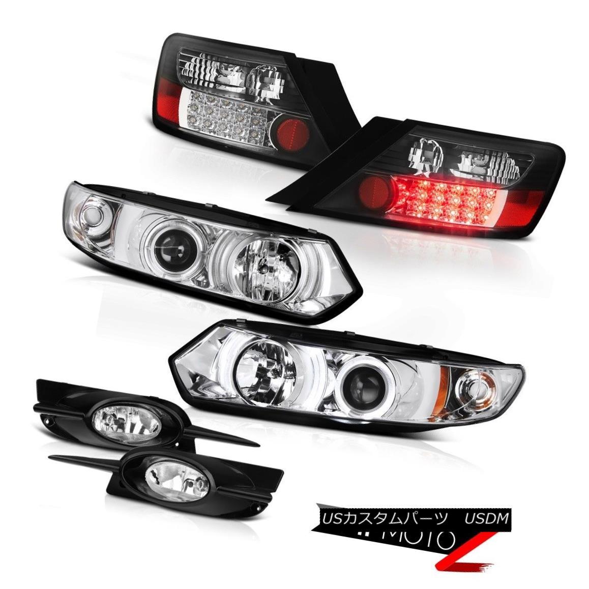 テールライト 09-11 Honda Civic 2D DX Euro Halo LED Headlights BLACK LED Tail Light Bumper Fog 09-11ホンダシビック2D DXユーロハローLEDヘッドライトBLACK LEDテールライトバンパーフォグ