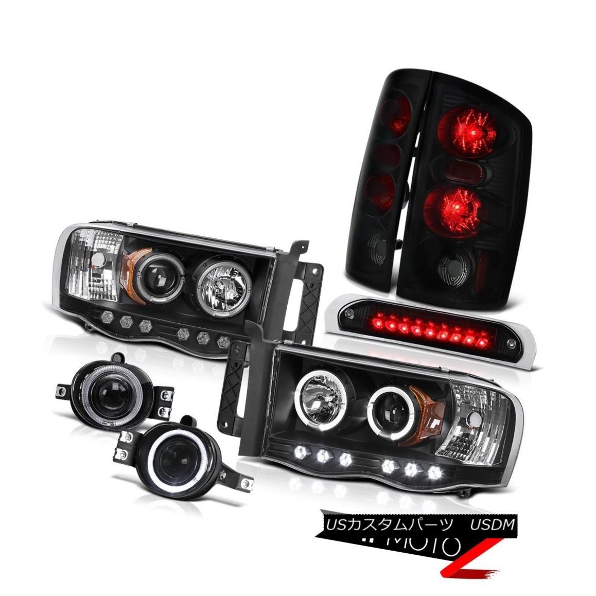 テールライト 02 03 04 05 Ram 3500 Black Headlights Sinister Brake Lights Fog High Stop LED 02 03 04 05 Ram 3500ブラックヘッドライト不快なブレーキライトフォグハイストップLED
