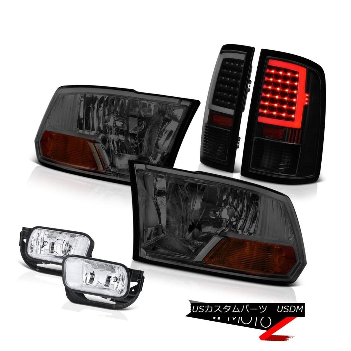 テールライト 2010-2018 Dodge RAM 2500 LED Tail Light Fog Smoked Factory Style Head Lamp SET 2010-2018ダッジRAM 2500 LEDテールライトフォグスモークファクトリースタイルヘッドランプSET