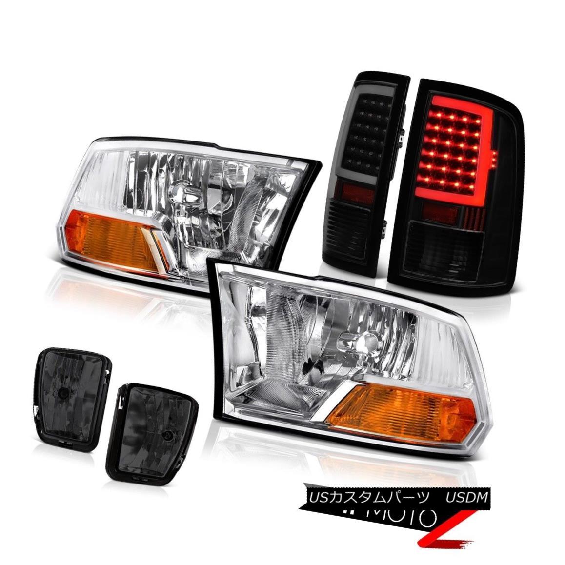 テールライト 13-18 RAM 1500 NEON Tube Tail Lamp Driving Light Chrome Factory Style Headlamp 13-18 RAM 1500 NEONチューブテールランプライトクロームファクトリースタイルヘッドライト