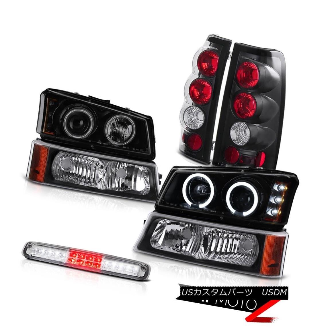 テールライト 03 04 05 06 Silverado Parking Lamp Euro Chrome 3RD Brake Headlights Tail Lamps 03 04 05 06 SilveradoパーキングランプEuro Chrome 3RDブレーキヘッドライトテールランプ