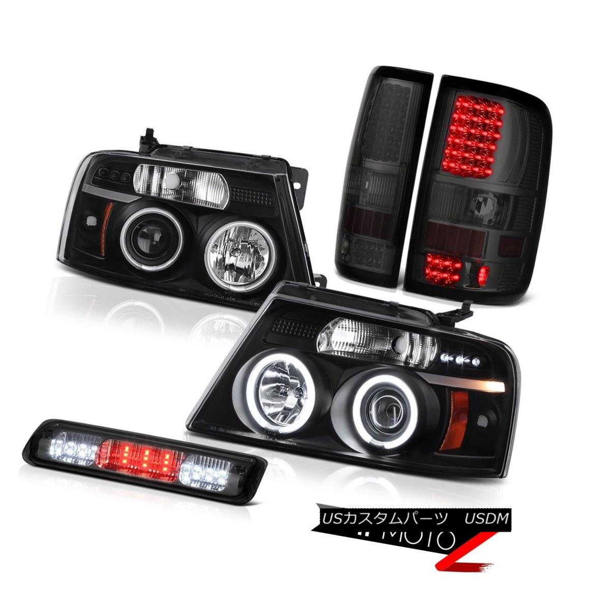 テールライト 2004-2008 Ford F150 Lariat Third Brake Light Rear Lights Headlamps LED CCFL Halo 2004-2008 Ford F150 Lariat ThirdブレーキライトリアライトヘッドランプLED CCFL Halo