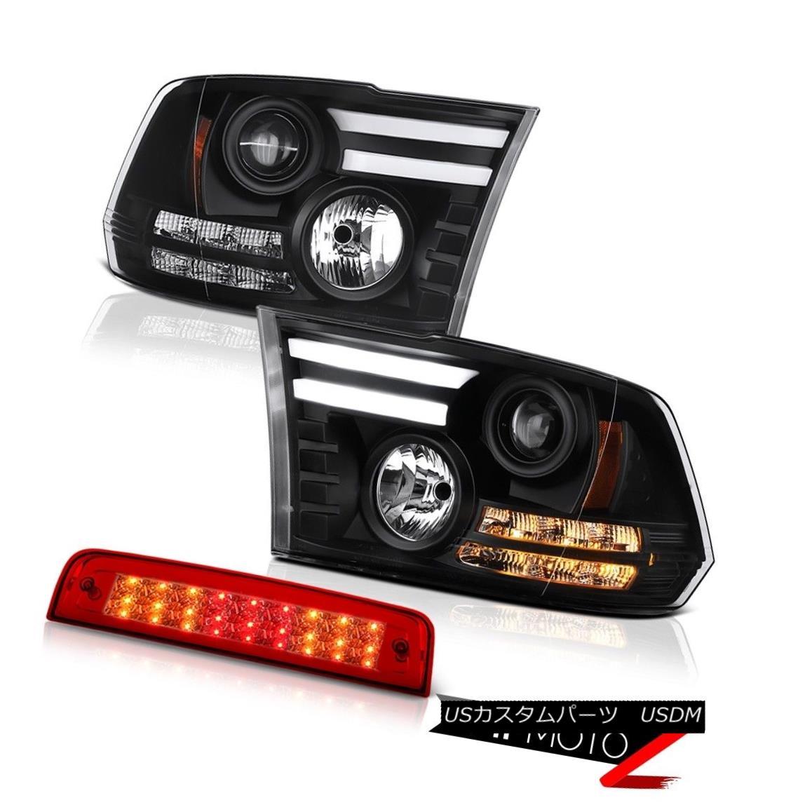 テールライト 2010-2018 Ram 3500 5.7L 3RD Brake Lamp Black Headlights Neon Tube Tron Tube Cool 2010-2018 Ram 3500 5.7L 3RDブレーキランプブラックヘッドライトネオンチューブトロンチューブクール