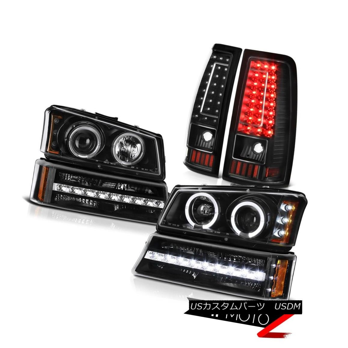 テールライト 2003-2006 Chevy Silverado 1500 Inky Black Taillamps Signal Lamp Headlamps SMD 2003-2006シボレーシルバラード1500 Inky Black TaillampsシグナルランプヘッドランプSMD