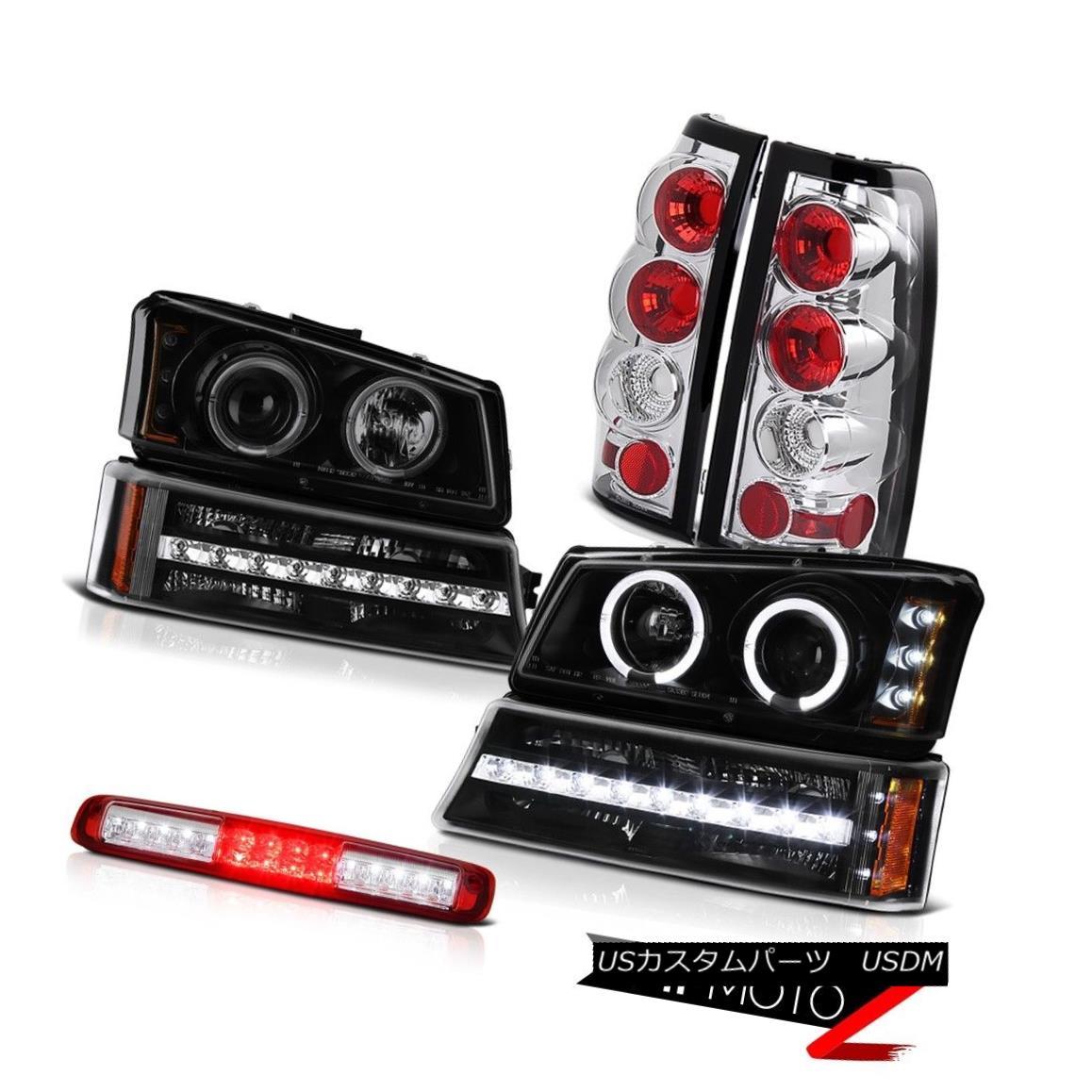 テールライト 03-06 Silverado 3500Hd Roof Brake Light Inky Black Bumper Headlights Tail Lamps 03-06 Silverado 3500Hdルーフブレーキライトインキブラックバンパーヘッドライトテールランプ
