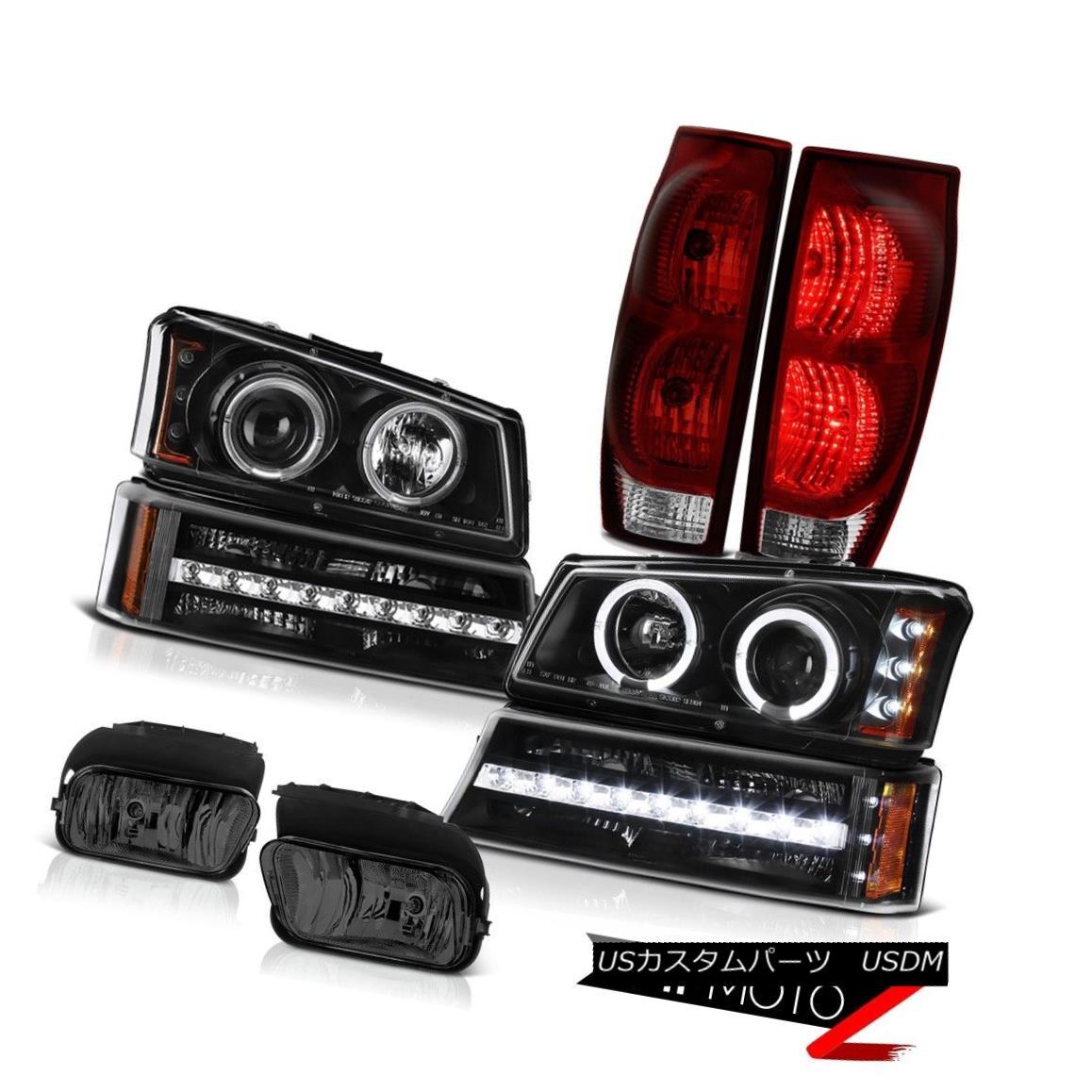 テールライト 03-06 Avalanche 1500 Smoked Foglamps Red Smoke Tail Lamps Bumper Lamp Headlamps 03-06雪崩1500スモークフォグランプ赤煙テールランプバンパーランプヘッドランプ