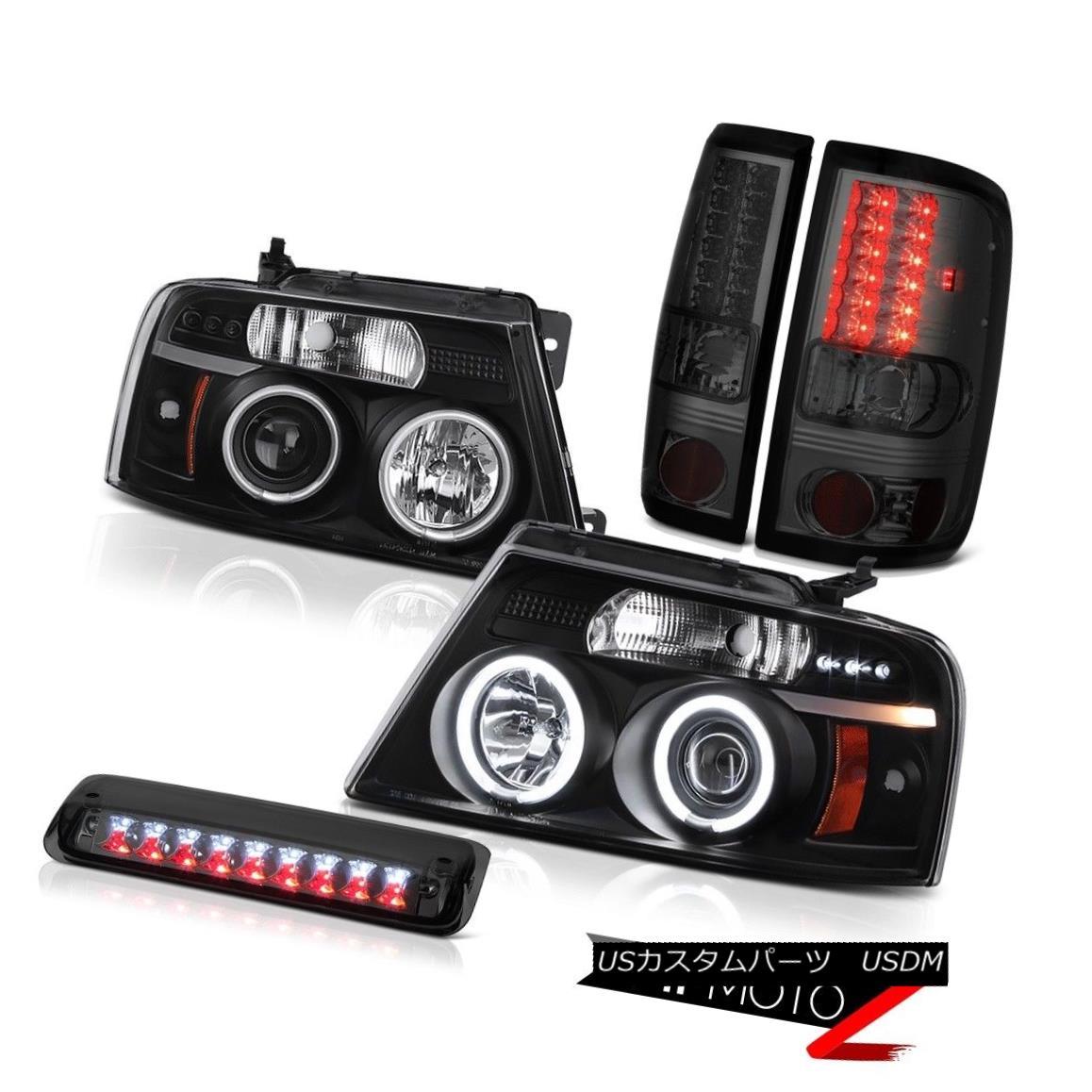 テールライト 04-08 Ford F150 Lariat Smokey High Stop Lamp Headlights Tail Lights CCFL Halo 04-08 Ford F150 Lariat SmokeyハイストップランプヘッドライトテールライトCCFL Halo