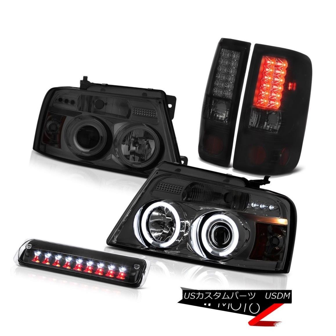 テールライト 2004-2008 Ford F150 XL Black High Stop Lamp Projector Headlights Taillights LED 2004-2008 Ford F150 XLブラックハイストップランププロジェクターヘッドライトテールランプLED