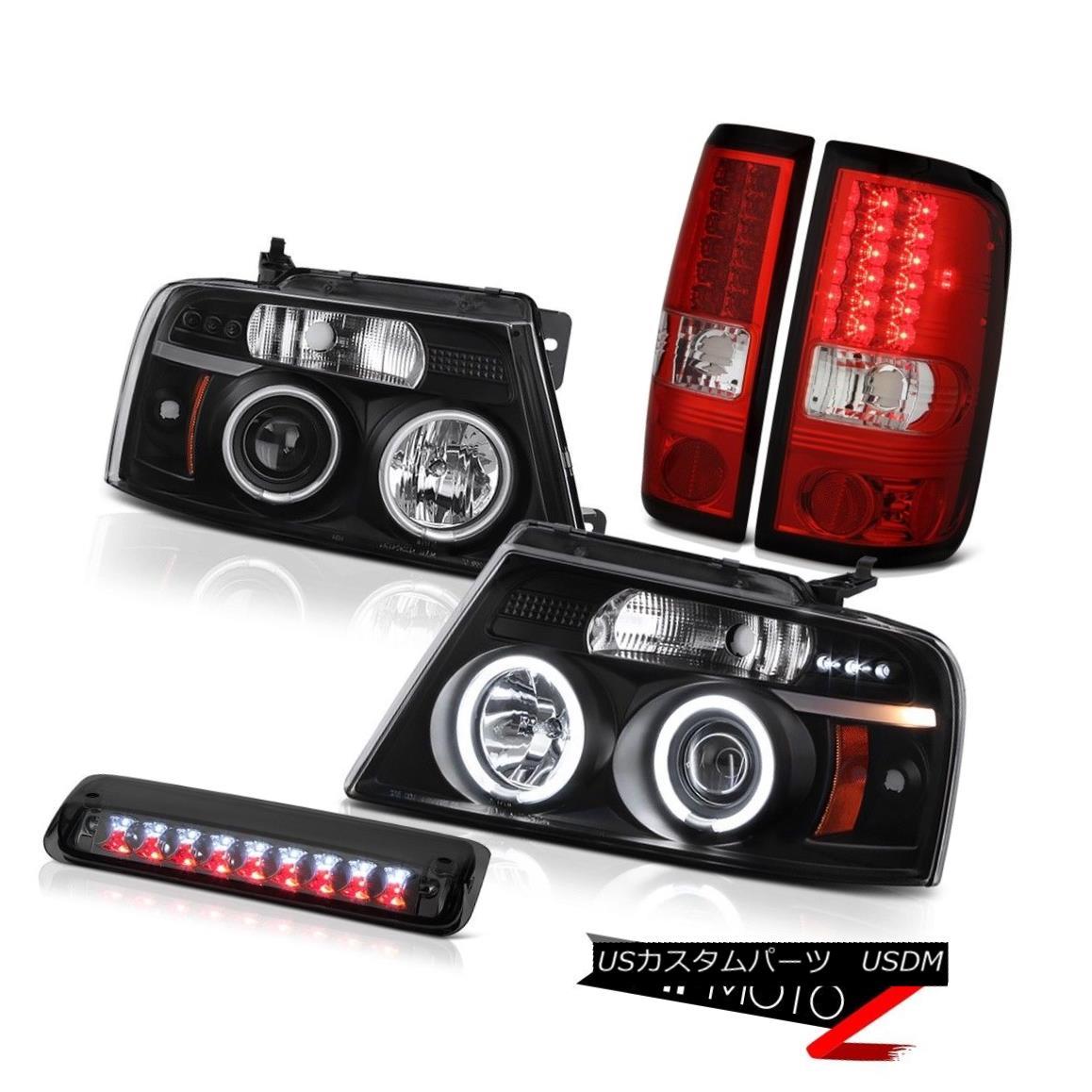 テールライト 2004-2008 Ford F150 FX4 Roof Cargo Light Headlights Wine Red Taillamps LED SMD 2004-2008フォードF150 FX4ルーフカーゴライトヘッドライトワインレッドタイルランプLED SMD