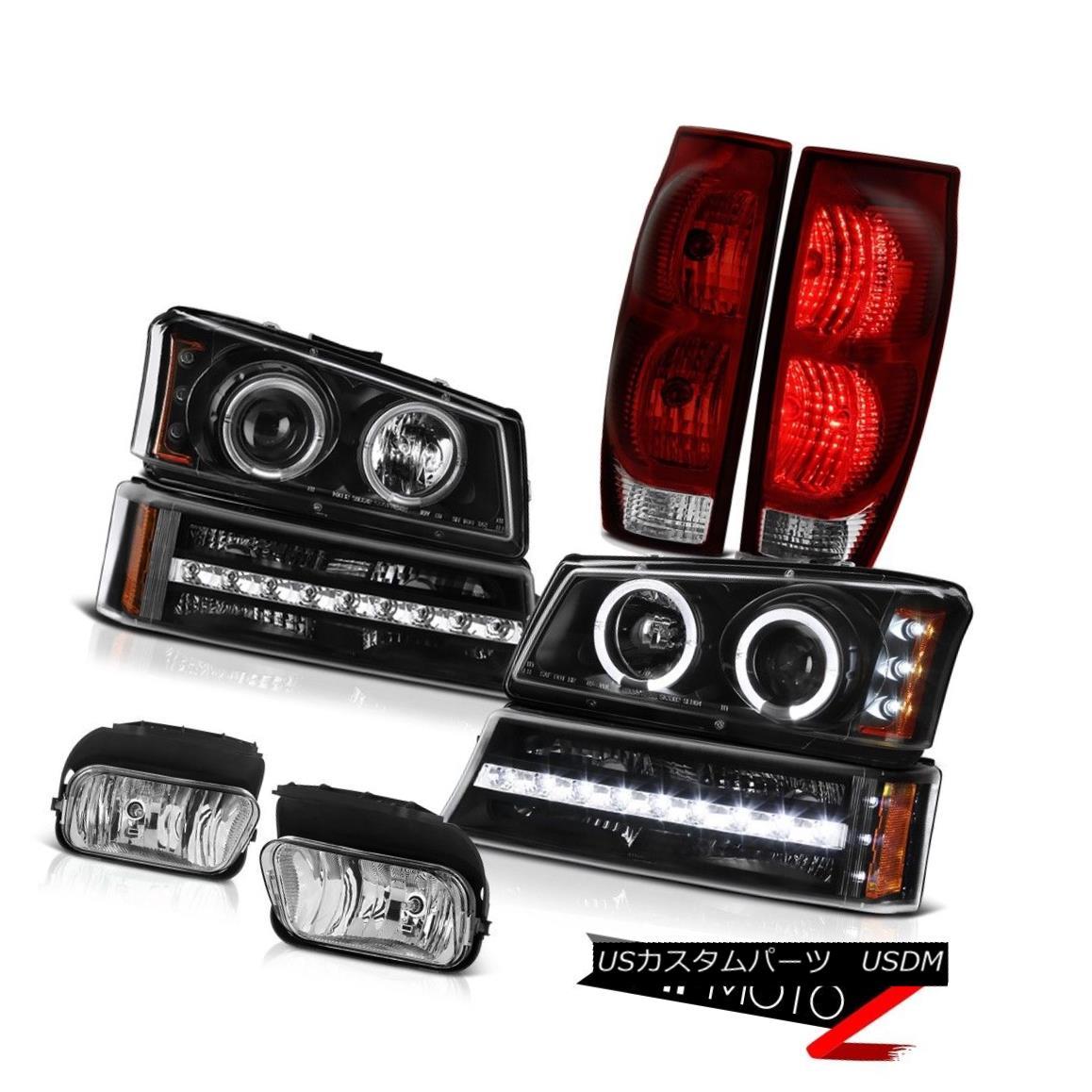 テールライト 03-06 Avalanche 1500 Fog Lights Tail Lamps Turn Signal Headlamps Factory Style 03-06雪崩1500霧のライトテールランプターンシグナルヘッドランプ工場のスタイル