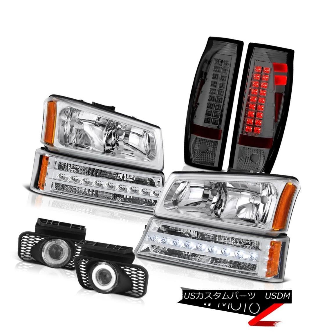 テールライト 03-06 Avalanche Fog Lamps Smoked Tail Brake Bumper Light Headlights Projector 03-06アバランシェフォグランプスモークテールブレーキバンパーライトヘッドライトプロジェクター