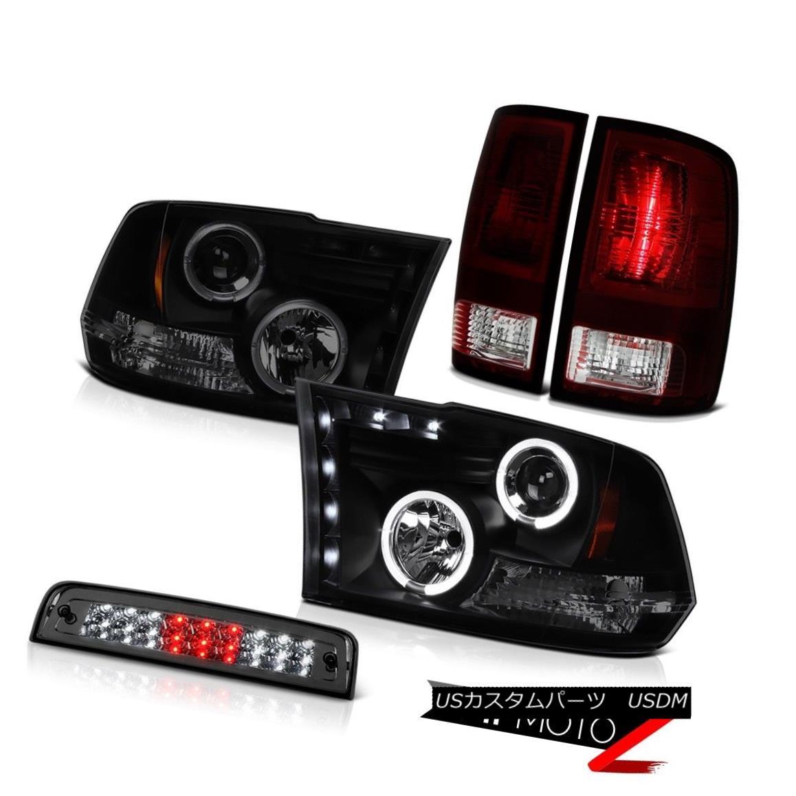 テールライト 10-18 Dodge Ram 2500 3500 6.7L Smoked Roof Cargo Light Tail Lights Headlights 10-18 Dodge Ram 2500 3500 6.7Lスモークルーフカーゴライトテールライトヘッドライト