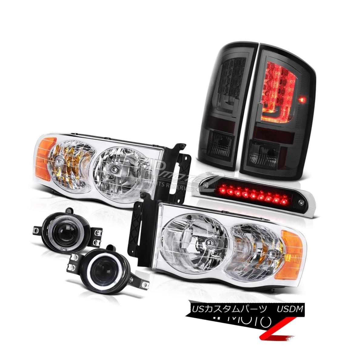 テールライト 02-05 Dodge Ram 1500 1500 3.7L Tail Lamps Black Roof Cab Lamp Headlamps Fog LED 02-05 Dodge Ram 1500 1500 3.7LテールランプブラックルーフキャブランプヘッドランプフォグLED