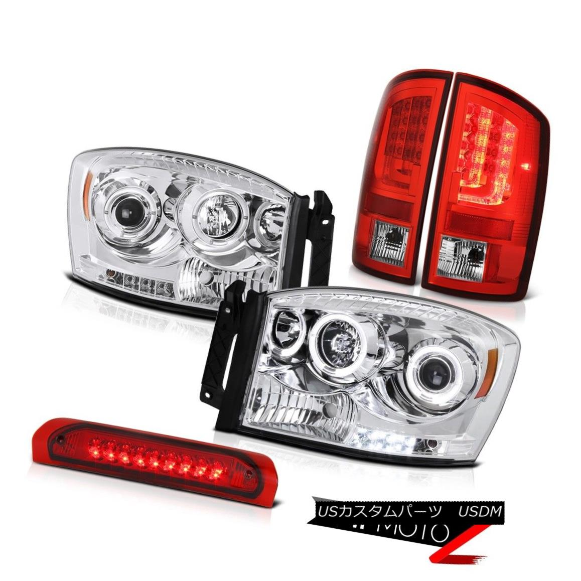 テールライト 07-08 Ram 1500 2500 3500 SLT Tail Lamps Headlights Roof Brake Light Light Bar 07-08ラム1500 2500 3500 SLTテールランプヘッドライトルーフブレーキライトライトバー