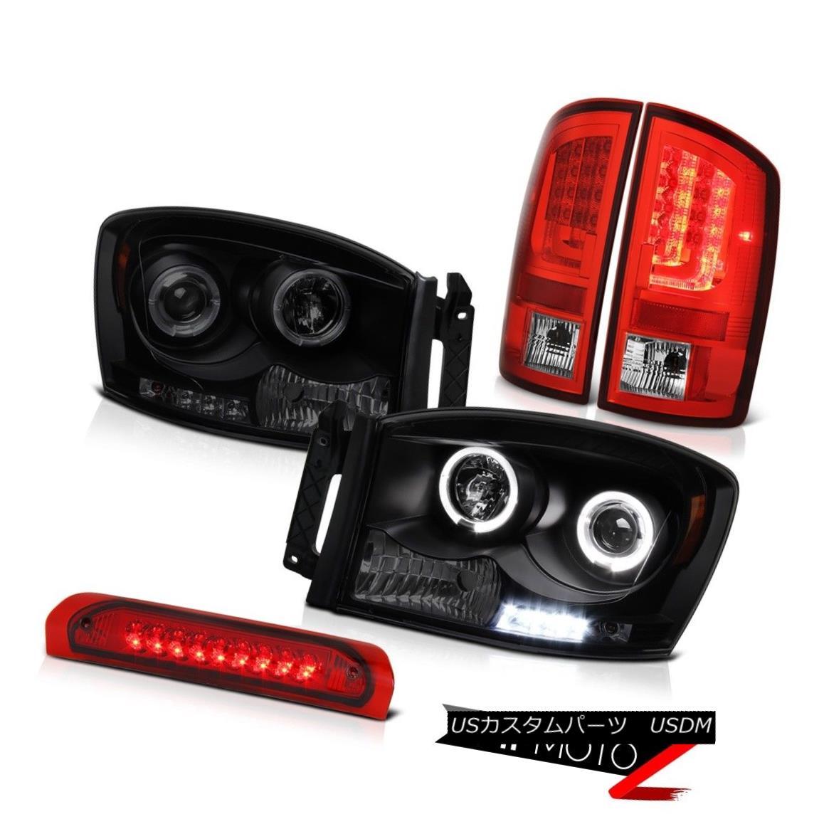 テールライト 2006 Ram 5.9L Wine Red Tail Brake Lamps Headlamps Roof Cargo Lamp LED Halo Rim 2006ラム5.9Lワインレッドテールブレーキランプヘッドランプ屋根カーゴランプLEDハローリム