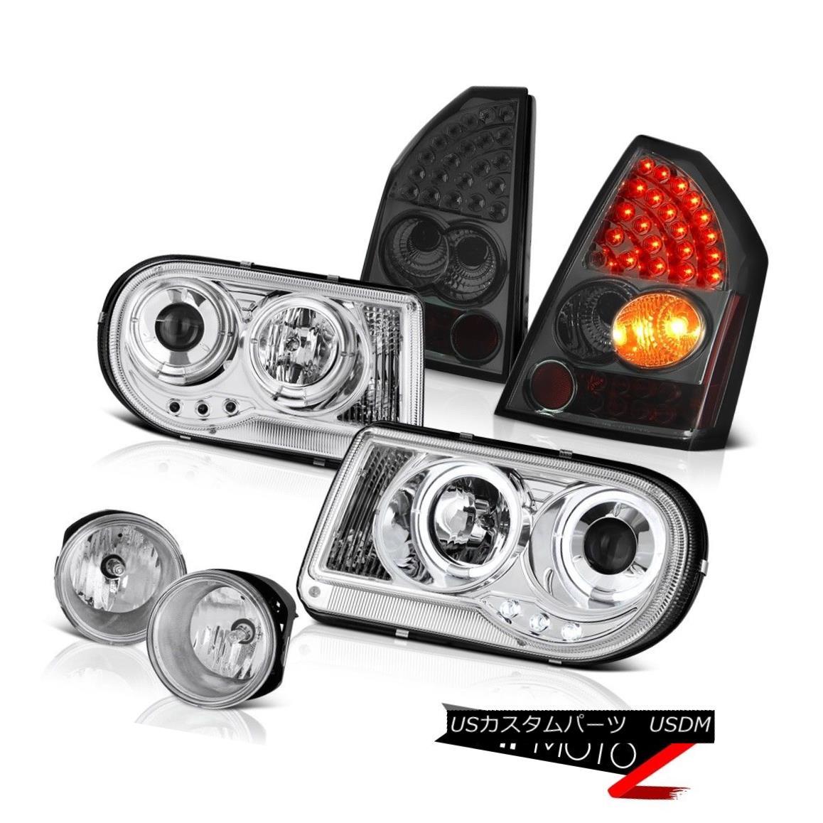 テールライト 2x Halo Projector Smoke LED Brake Lamps Foglamps 05 06 07 Chrysler 300C SRT8 2x Haloプロジェクター煙LEDブレーキランプFoglamps 05 06 07 Chrysler 300C SRT8