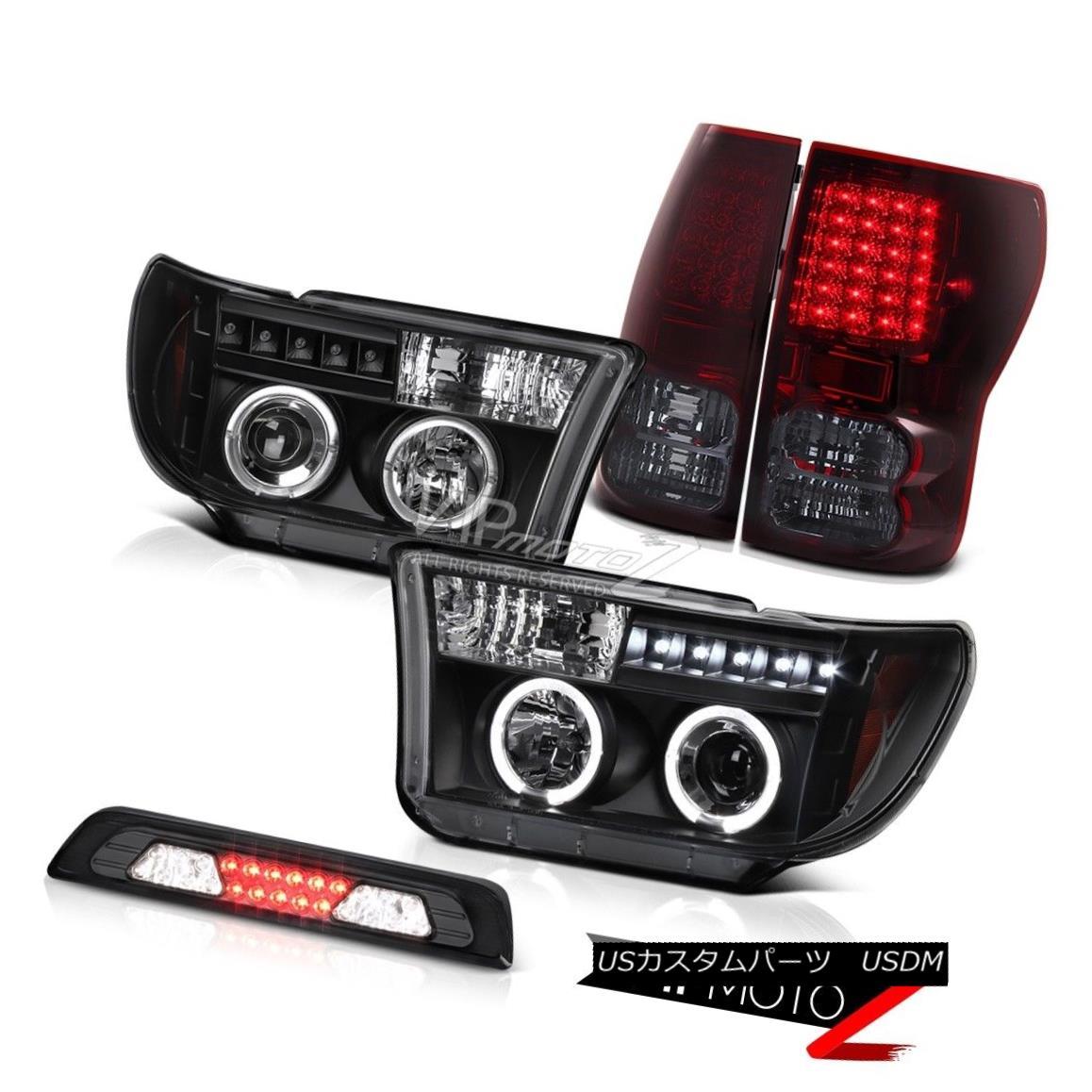 テールライト 07-13 Toyota Tundra SR5 Roof Cab Lamp Tail Lamps Raven Black Headlamps LED SMD 07-13トヨタトンドラSR5ルーフキャブランプテールランプレーブブラックヘッドランプLED SMD