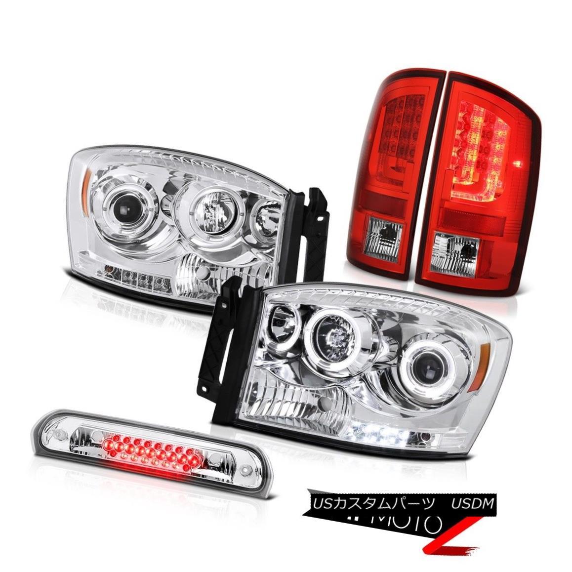 テールライト 07-08 Dodge Ram 1500 ST Rear Brake Lamps Headlights Roof Lamp LED