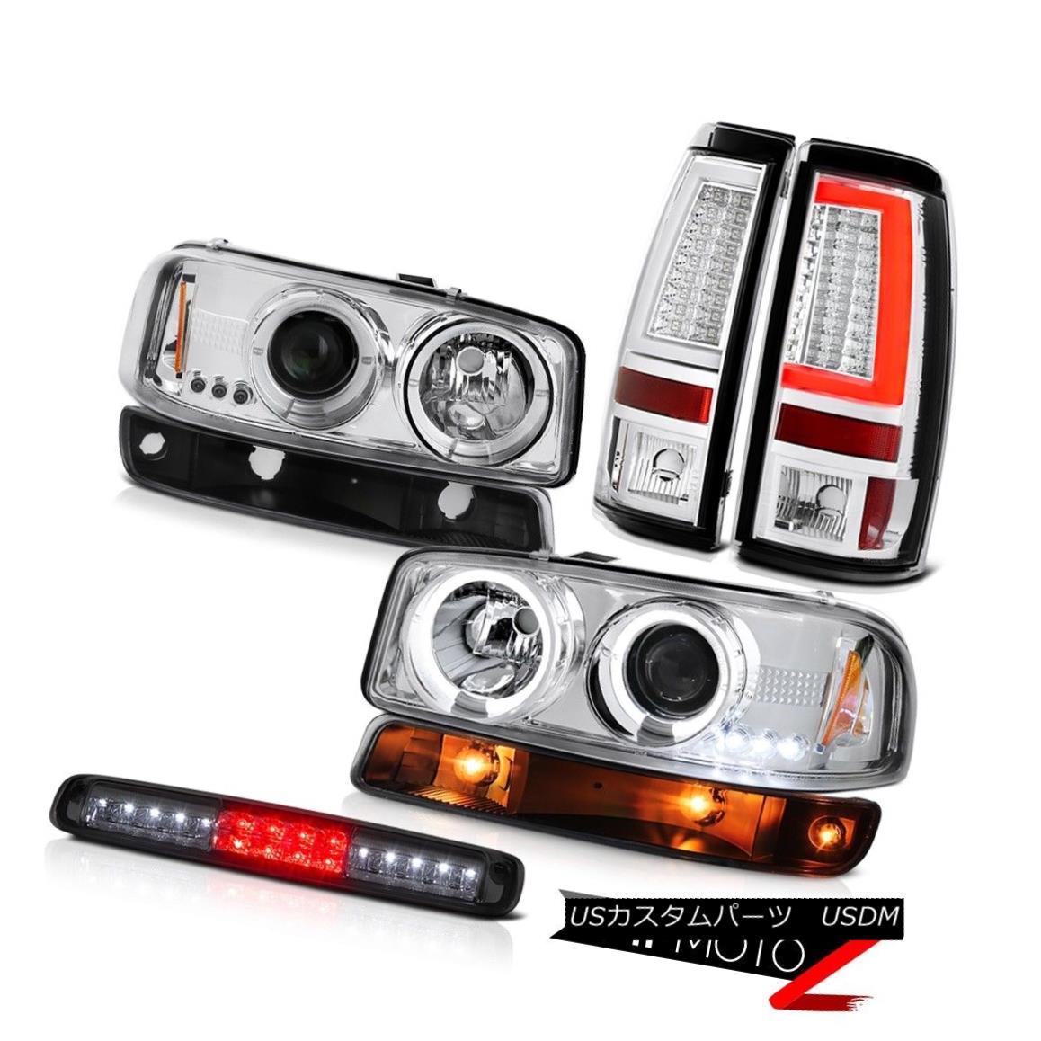 テールライト 99-06 GMC Sierra Tail Lights Smokey 3RD Brake Lamp Signal Headlamps Light Bar 99-06 GMC Sierraテールライトスモーキー3RDブレーキランプ信号ヘッドランプライトバー