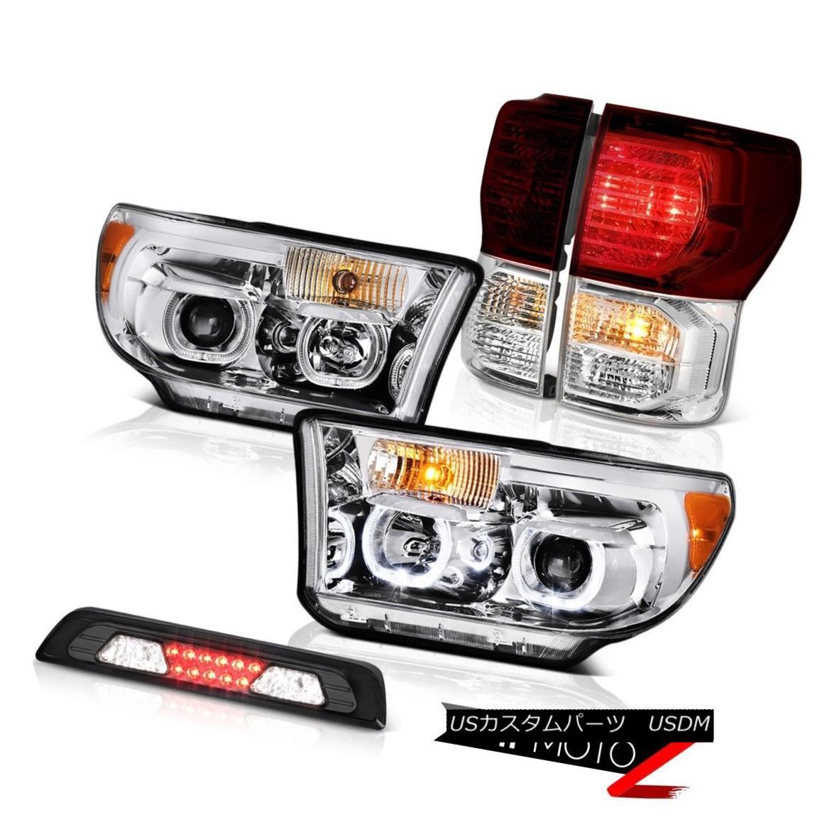 テールライト 2007-2013 Toyota Tundra SR5 Headlights Roof Cab Lamp Tail Lights LED Angel Eyes 2007-2013トヨタ・トンドラSR5ヘッドライトルーフキャブ・ランプテール・ライトLEDエンジェル・アイズ