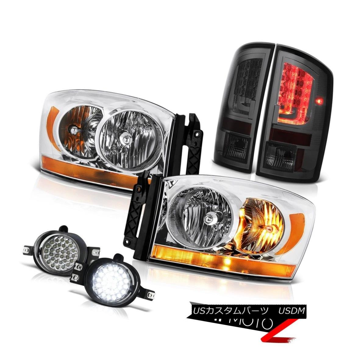 テールライト 2006 Ram 4.7L Phantom Smoke Taillights Headlamps Foglights LED Drl