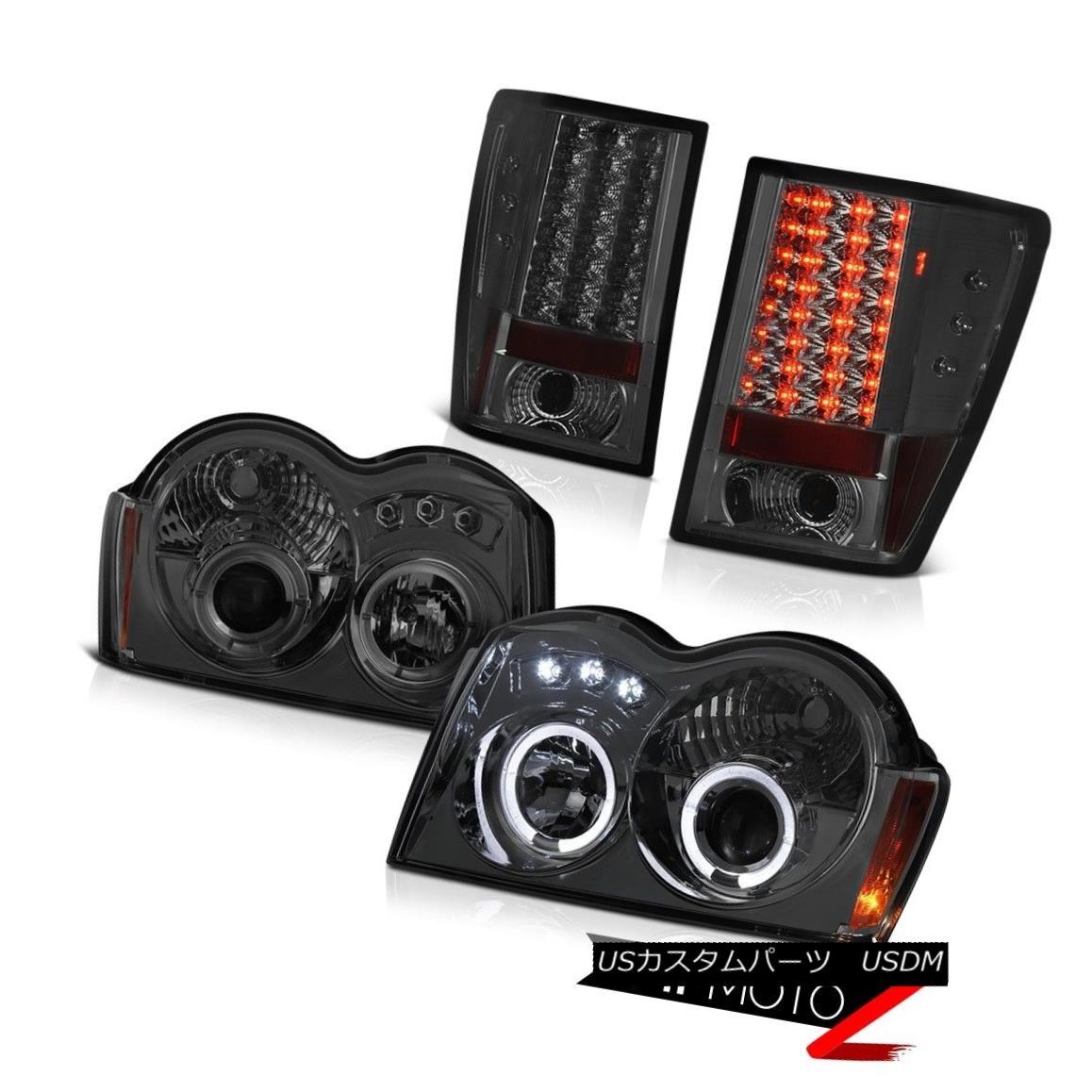 テールライト 05 06 Jeep Grand Cherokee Laredo Projector Headlamps Rear Brake Lights SMD 05 06ジープグランドチェロキーラレドプロジェクターヘッドランプリアブレーキライトSMD