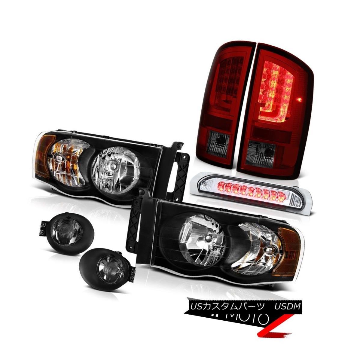 テールライト 2002-2005 Dodge Ram 1500 SLT Taillamps Smoked Foglights Headlamps High STop Lamp 2002-2005ダッジラム1500 SLTタイルランプスモークフォグライトヘッドランプハイSTOPランプ