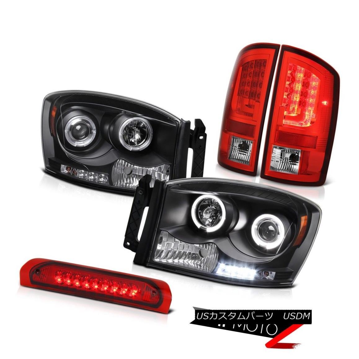テールライト 2007-2009 Dodge Ram 1500 4.7L Red Parking Brake Lights Headlights 3RD Lamp LED 2007-2009 Dodge Ram 1500 4.7Lレッドパーキングブレーキライトヘッドライト3RDランプLED