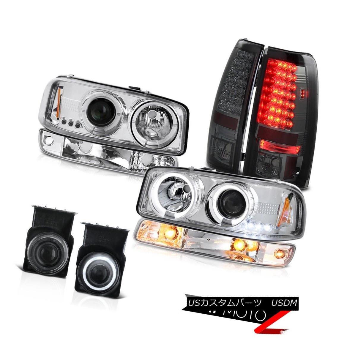 テールライト 03-06 Sierra C3 Smoked foglights smd tail lamps euro clear turn signal headlamps 03-06 Sierra C3スモークフォグライトとテールランプユーロクリアターンシグナルヘッドランプ