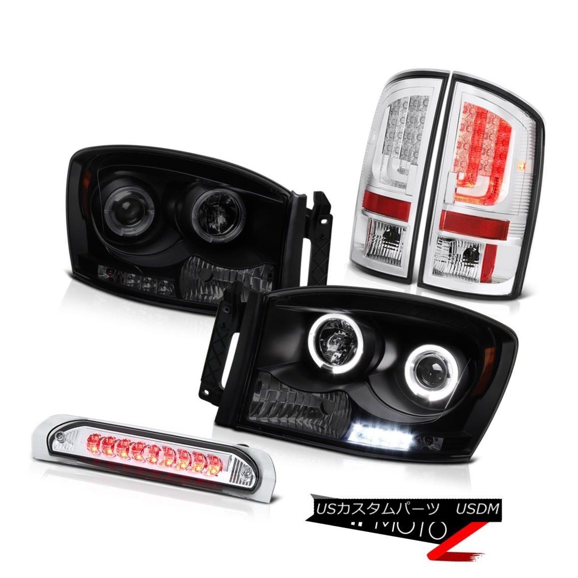 テールライト 2006 Dodge Ram Taillights Headlights High STop Lamp Tron Tube LED