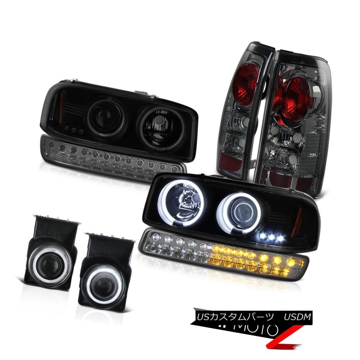 テールライト 03-06 Sierra 5.3L Foglamps Phantom Smoke Taillamps Turn Signal Darkest Headlamps 03-06シエラ5.3Lフォグランプファントムスモークタイルランプターンシグナルダークヘッドランプ