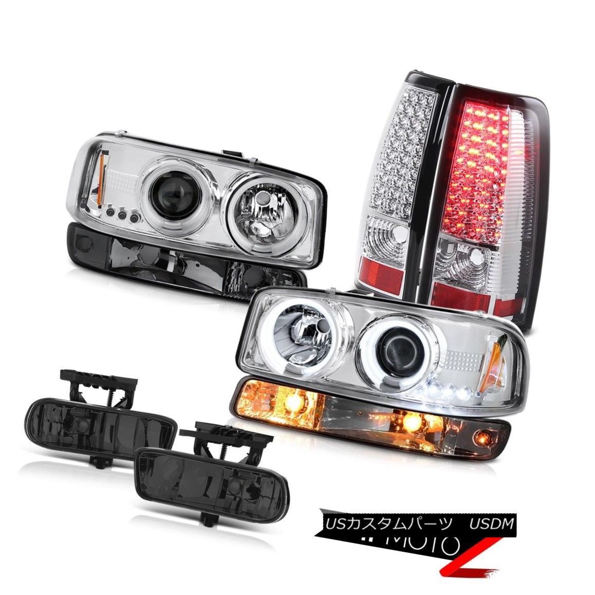 テールライト 99-02 Sierra 4.3L Smoked fog lamps led tail brake bumper light ccfl Headlamps 99-02シエラ4.3Lスモークフォグランプテールブレーキバンパーライトccflヘッドランプ