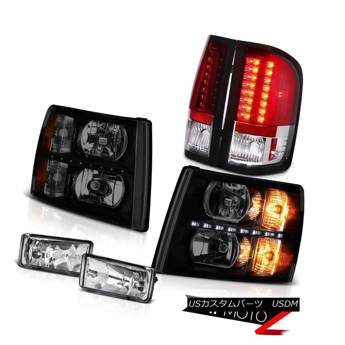 テールライト 07-13 Silverado Z71 Headlamps led drl fog lamps red clear tail lights Assembly 07-13 Silverado Z71ヘッドライトled drlフォグランプ赤いクリアテールライトアセンブリ