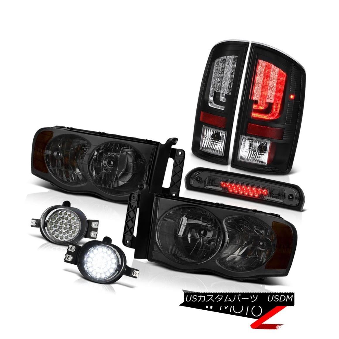 テールライト 2003-2005 Dodge Ram 3500 5.7L Rear Brake Lamps Headlamps Fog 3RD Lamp LED Drl 2003-2005ダッジラム3500 5.7Lリアブレーキランプヘッドランプフォグ3RDランプLED Drl