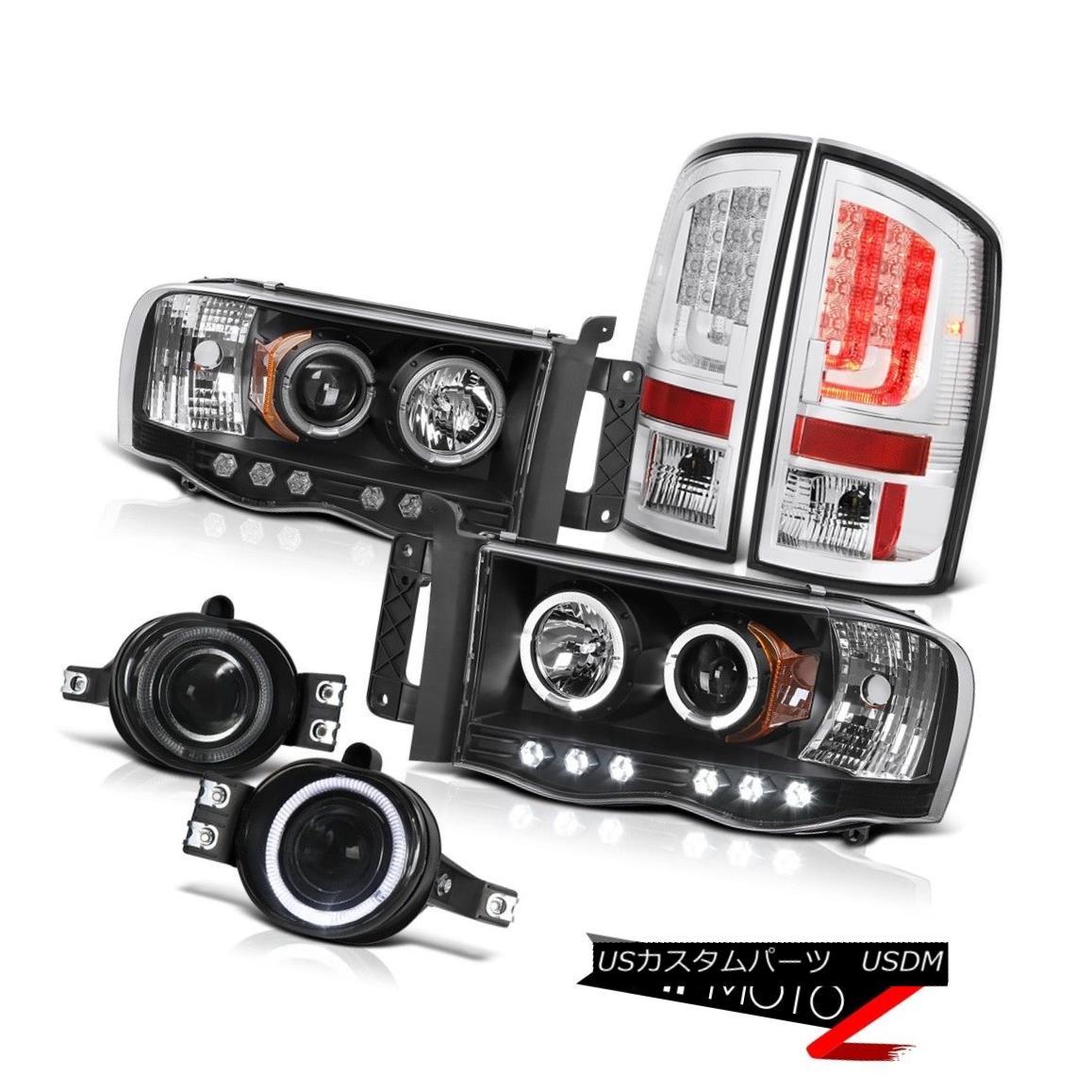 テールライト 2003-2005 Dodge Ram 3500 5.7L Tail Brake Lights Headlamps Smokey Fog OLED Prism 2003-2005 Dodge Ram 3500 5.7LテールブレーキライトヘッドランプスモーキーフォグOLEDプリズム