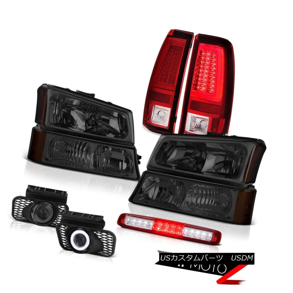 テールライト 03 04 05 06 Silverado 1500 Taillights Smoked Headlamps High Stop Light Foglamps 03 04 05 06 Silverado 1500テールライトスモークヘッドランプハイストップライトフォグランプ