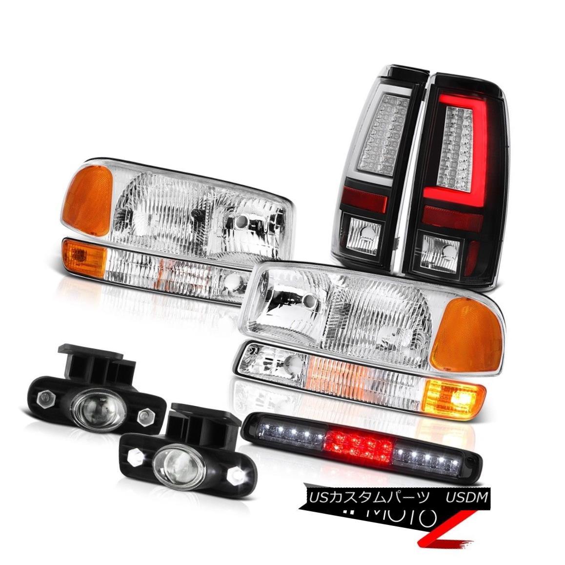 テールライト 99-02 Sierra 5.3L Headlamps Corner Black Taillamps Roof Cab Light Fog Lights LED 99-02 Sierra 5.3LヘッドランプコーナーブラックタイヤランプルーフキャブライトフォグライトLED