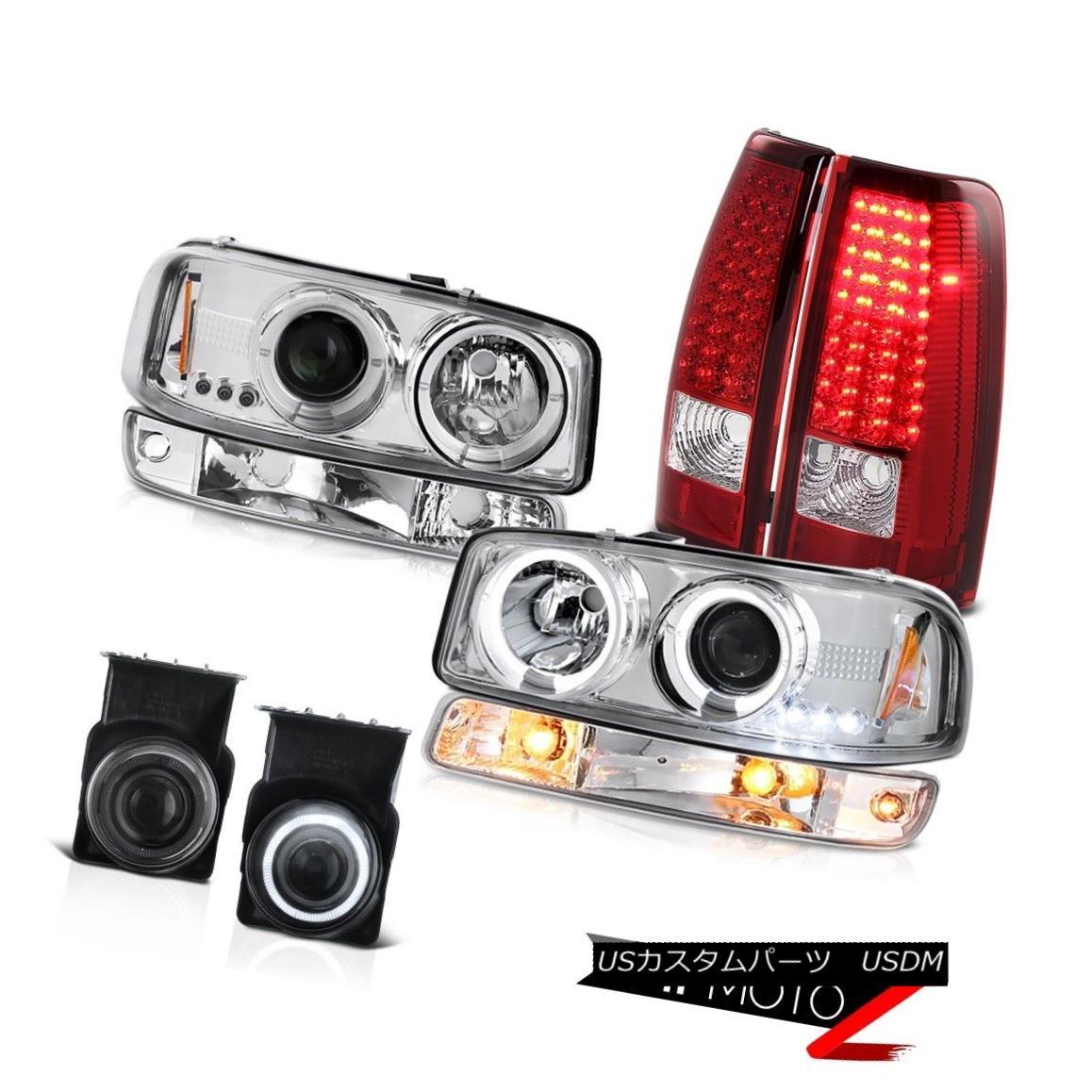 テールライト 03-06 Sierra SLT Foglamps red clear taillamps euro chrome bumper light headlamps 03-06 Sierra SLT Foglamps赤色クリアテールライトユーロクロムバンパーライトヘッドランプ