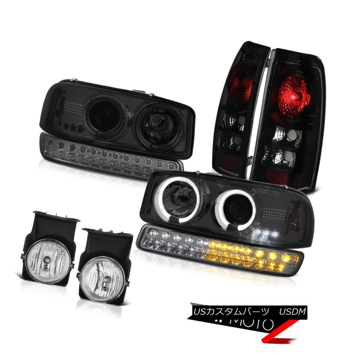 テールライト 03 04 05 06 Sierra 5.3L Fog Lights Tail Lamps Dark Smoke Parking Lamp Headlamps 03 04 05 06シエラ5.3Lフォグライトテールランプダークスモークパーキングランプヘッドランプ