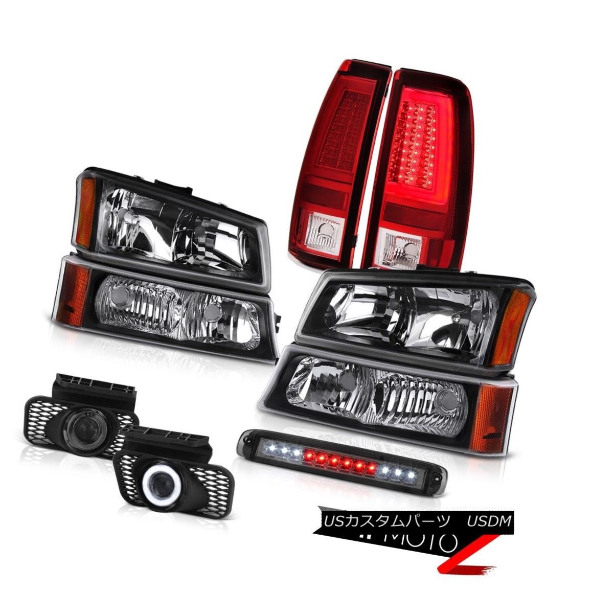 テールライト 03-06 Silverado Tail Lamps High Stop Lamp Black Turn Signal Headlights Foglamps 03-06 Silveradoテールランプハイストップランプブラックターンシグナルヘッドライトフォグランプ