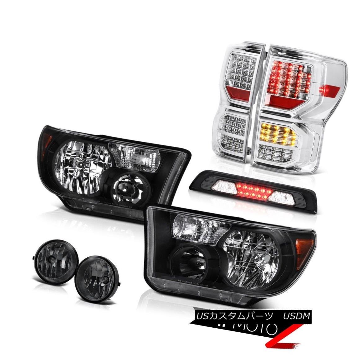 テールライト 07-13 Toyota Tundra SR5 Rear Brake Lamps Headlamps Roof Cab Lamp Foglamps LED 07-13トヨタ・トンドラSR5リア・ブレーキ・ランプヘッドランプルーフキャブ・ランプフォグランプLED