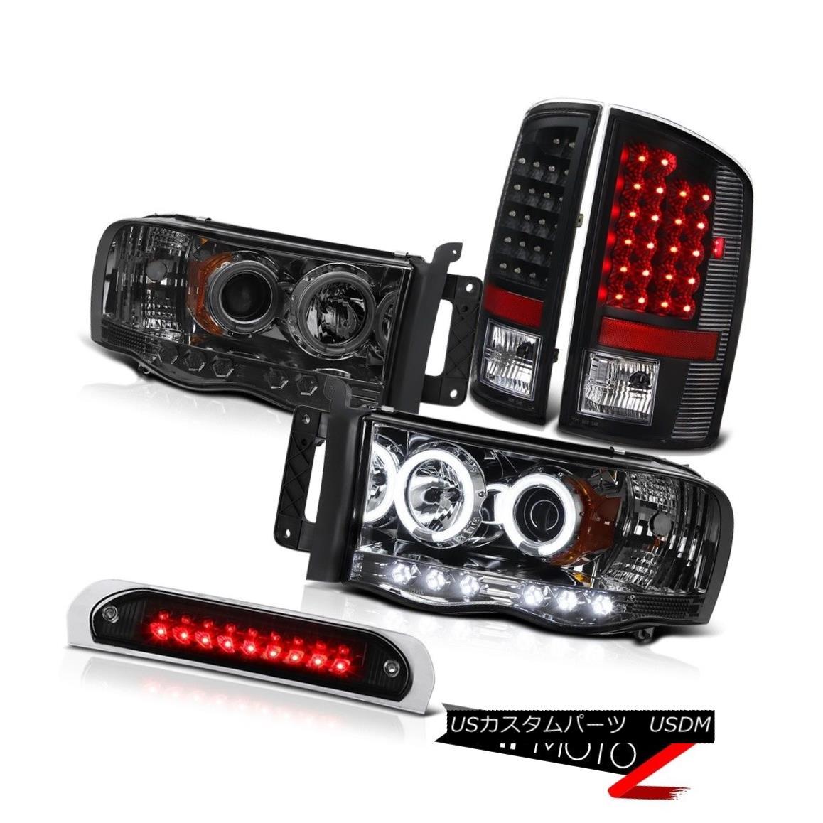 テールライト Tinted CCFL Angel Eye Headlights LED Bulbs Tail Lamps High Stop 02-05 Ram WS ティンテッドCCFLエンジェルアイヘッドライトLED電球テールランプハイストップ02-05 Ram WS