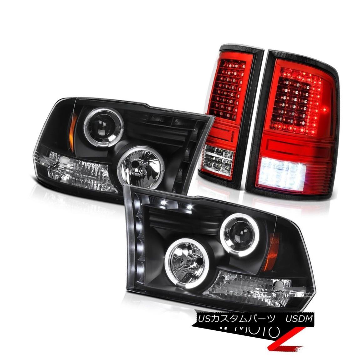 テールライト 2009-2018 Dodge RAM 2500 Red Clear Tail Lamp Nighthawk Black Head Lights PAIR 2009-2018ダッジRAM 2500レッドクリアテールランプナイトホークブラックヘッドライトPAIR