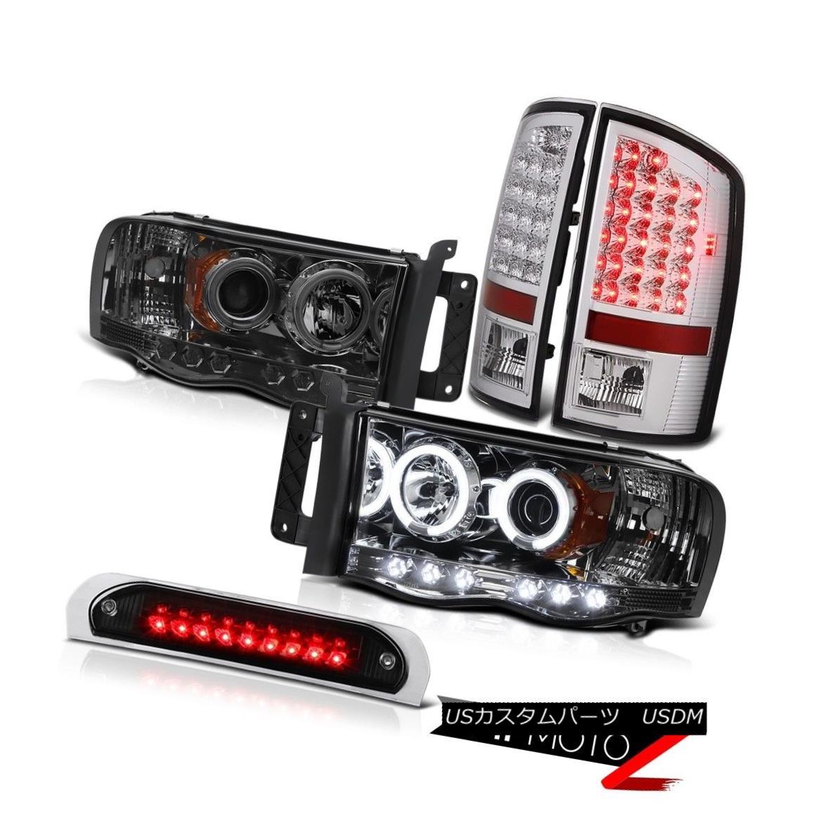 テールライト Tinted CCFL Rim Headlights LED Taillamps Chrome Black Third 02 03 04 05 Ram SLT ティント付きCCFLリムヘッドライトLEDタイルランプクロームブラック第3 02 03 04 05ラムSLT