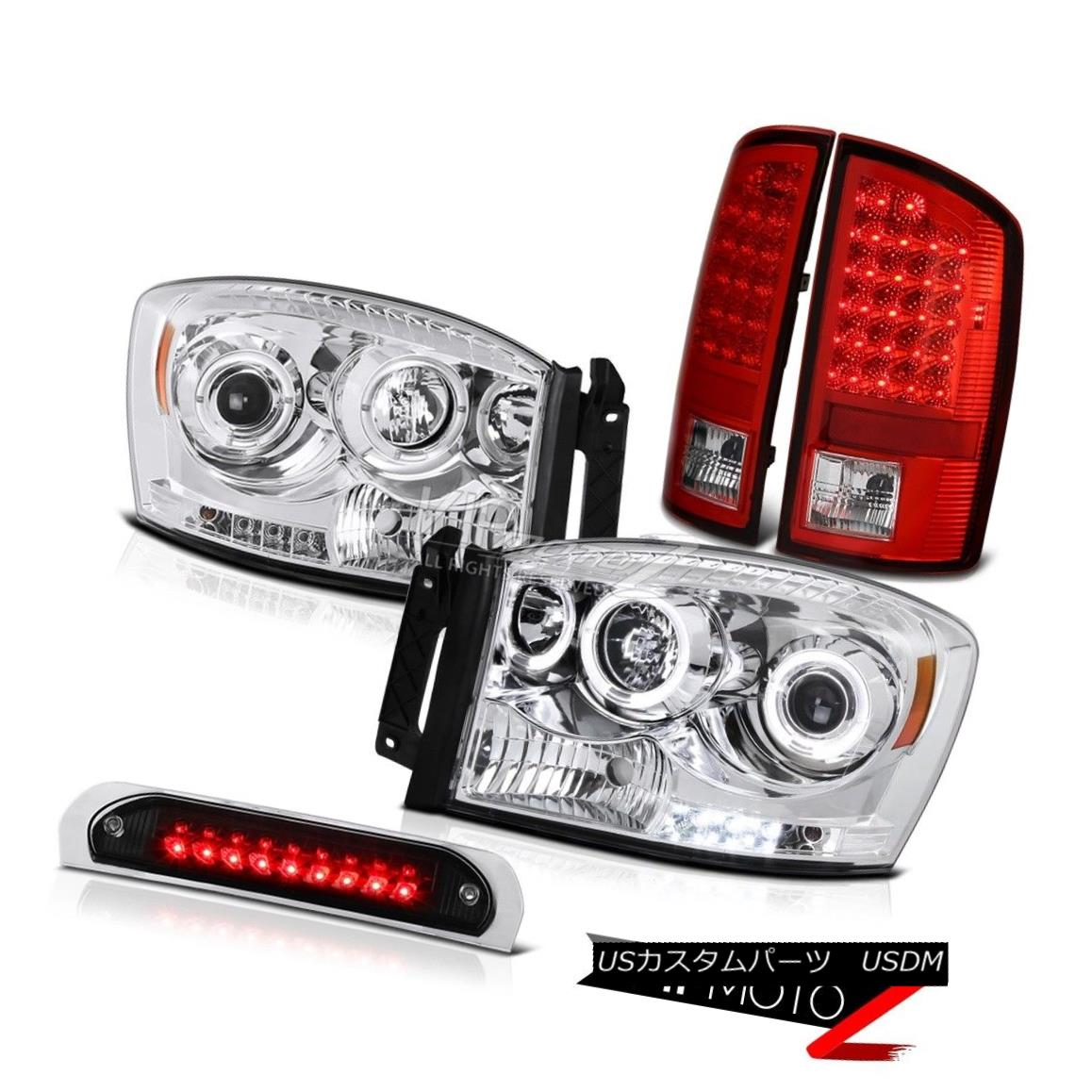 テールライト Halo LED Projector Headlights Signal Taillamps Cargo 3rd 07 08 Dodge Ram 3500 Halo LEDプロジェクターヘッドライト信号タイルランプ貨物3rd 07 08 Dodge Ram 3500