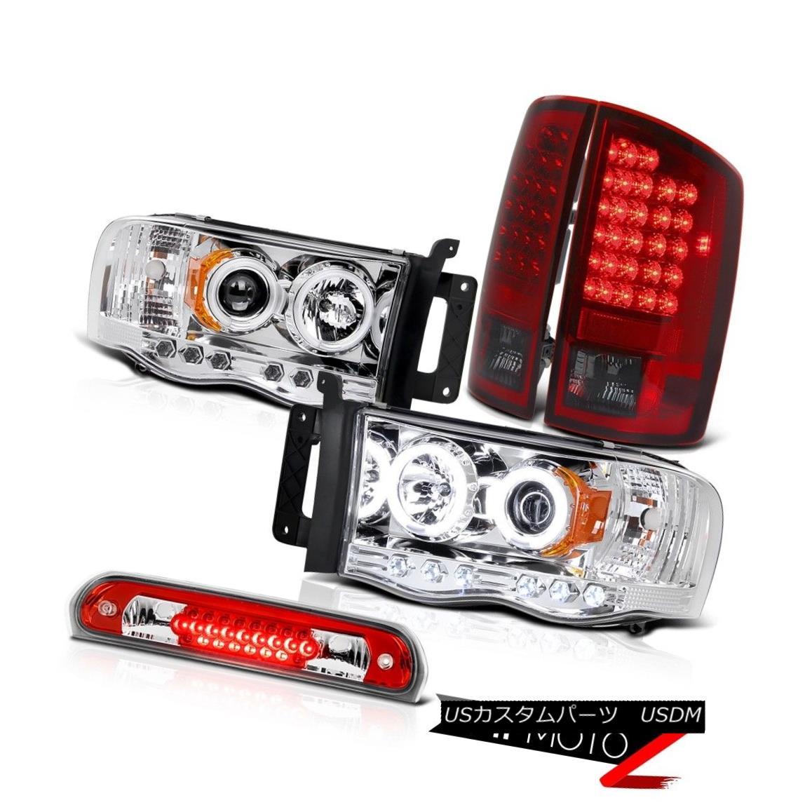 テールライト Daytime CCFL Headlights Red Smoke Tail Lights Brake Cargo LED 2002-2005 Ram WS 昼間CCFLヘッドライト赤煙テールライトブレーキカーゴLED 2002-2005 Ram WS