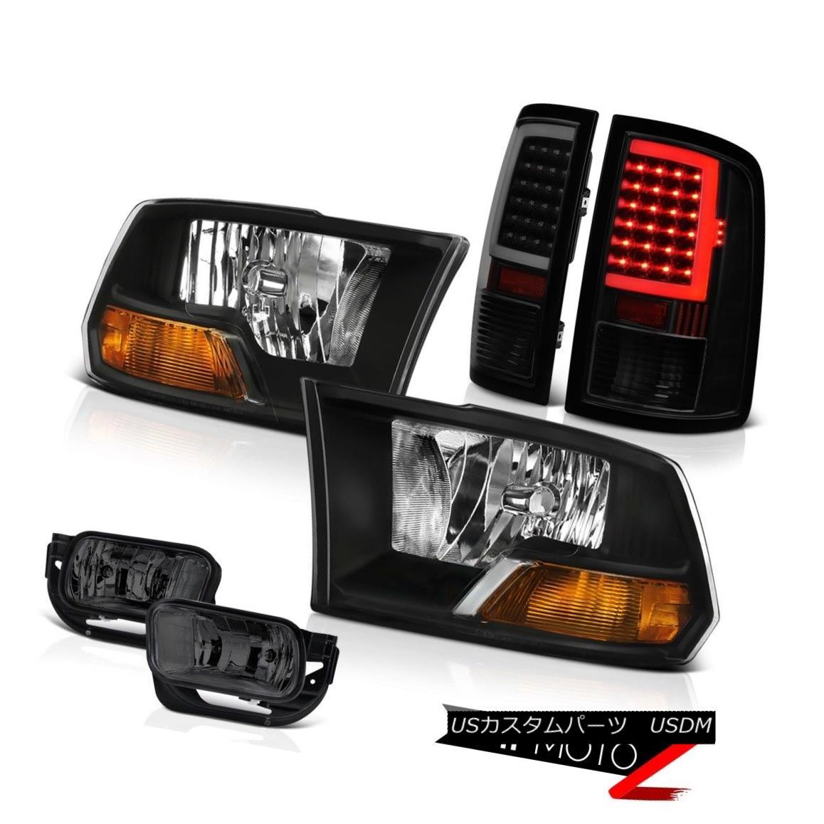 テールライト 2010-2013 Dodge RAM 1500 2500 Tail Light Driving Black Factory Style Headlight 2010-2013 Dodge RAM 1500 2500テールライトドライビングブラックファクトリースタイルヘッドライト